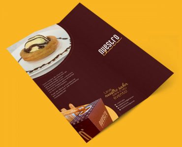 folder 2 dobras churros